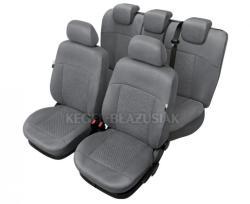 Set huse scaun model Arcadia pentru Dacia Logan, culoare gri, set huse auto Fata si Spat