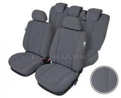 Set huse scaun model Elegance pentru Dacia Logan, culoare gri, set huse auto Fata + Spat