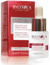 Byotea Skin Care Lifting Instant Pentru Fata Si Gat Cu 1% Acid Hialuronic - Instant Lift Face And Neck - 1% Hyaluronic Acid 15ml - BYOTEA Crema antirid contur ochi