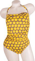 Beach Panties Costum baie intreg Beach Panties, Gri/Galben