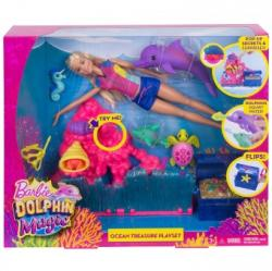 Mattel Barbie Dolphin Magic Ocean Treasure FCJ29 Papusa Barbie