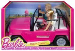 Mattel Barbie masina decapotabila Beach Cruiser cu Barbie si Ken CJD12