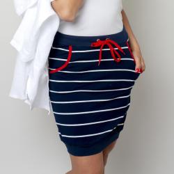Willsoor Fustă tricotată cu un model în dungi 10774