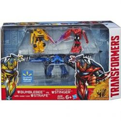 Hasbro Transformers 4 Age of Extinction Exclusive Action Figure Bumblebee - Strafe Vs Decepticon Stinger a7757