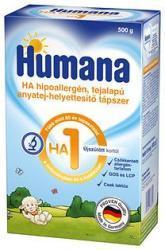 Humana HA1 részlegesen hidrolizált, hypoallergén, anyatejet helyettesítő tápszer 500g