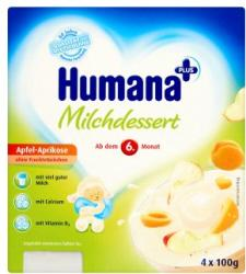Humana Tejdesszert alma-sárgabarack 4x100g