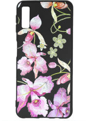 Just Must Husa Samsung Galaxy A7 (2018) Just Must Silicon Printed Embroidery Pink Flowers (JMPEA718PKFL)