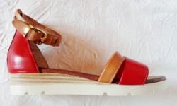 Ellen Blake Sandale joase femei Calla - piele naturala marca Ellen Blake rosu