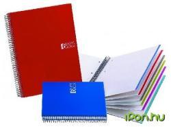 Miquelrius Notebook 6 spirálfüzet műanyag borítós kockás A5 150 lapos