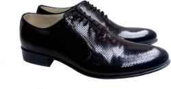 Made In Romania Pantofi barbati lux - eleganti din piele naturala - Negru perforat STD35NLPERF