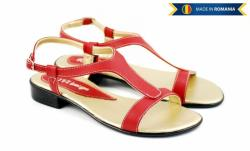 Ellion Sandale dama din piele naturala - Made in Romania S16RED