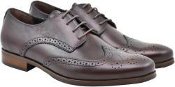 Ciucaleti Shoes Pantofi barbati de gala, eleganti din piele naturala maro Derby SIRML21