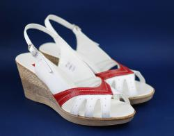 Ellion Sandale dama din piele naturala - Made in Romania ELY88AR - ciucaleti