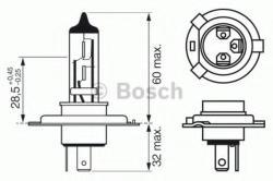 Bosch Bec, far faza lunga PEUGEOT PARTNER caroserie (5) (1996 - 2012) BOSCH 1 987 302 049