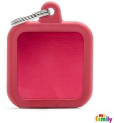 Medalion My Family - Hushtag, pătrat roșu 1 buc