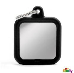 Medalion My Family - Hushtag, pătrat - argintiu 1 buc