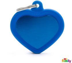 Medalion My Family - Hushtag, inimă albastră 1 buc