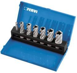 FERVI Set 7 carote HSS pentru masina de gaurit cu talpa magnetica F002/6