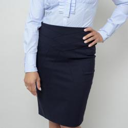 Willsoor Fustă elegantă, în culoarea albastru închis 10826