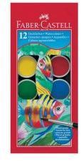 Faber-Castell Водни бои 12 цвята + четка