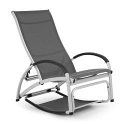 Blumfeldt Beverly Wood, leagăn de soare, scaun balansoar, aluminiu, gri (GDMC2-Berverlywd-BL)