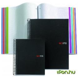 Miquelrius Note Book 8 spirálfüzet műanyag borítós kockás A5 200 lapos