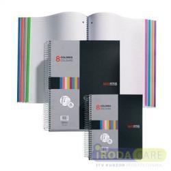 Miquelrius Note Book 8 spirálfüzet műanyag borítós vonalas A5 200 lapos