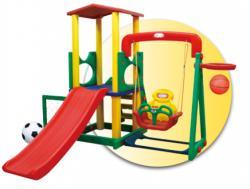 Inlea4Fun XL mega kerti játszótér csúszdával és hintával 244cm