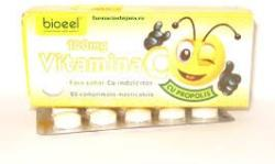 Bioeel Vitamina C 100 mg propolis, 20 comprimate, Bioeel (FSH1063)