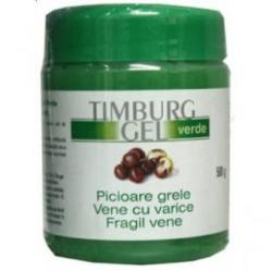 Trans Rom Timburg gel verde pentru picioare grele, vene fragile, 500 g, Trans Rom (FSH1008)