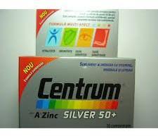 Pfizer Centrum de la A la Zinc Silver 50 +, 60 comprimate, Pfizer (FSH393)