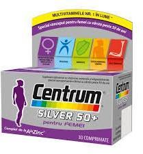 Pfizer Centrum Silver 50 + pentru femei, 30 comprimate, Pfizer (FSH399)