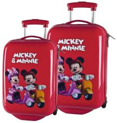 DISNEY Set Troler Abs 48/55 cm Mickey si Minnie Geanta voiaj