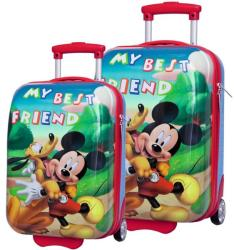 DISNEY Set Troler Abs 48/55 cm Mickey si Pluto Friends Geanta voiaj