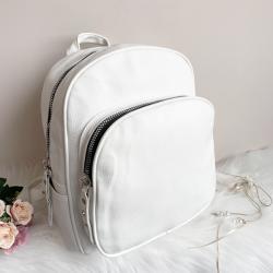 Бяла кожена раница Модел-8040