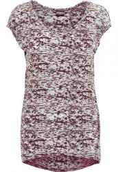 Urban Classics Ladies Burnout Tee burgundy