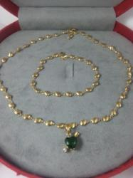 Anebris Set bijuterii Luxury Special Emerald Heart (SPT 2)