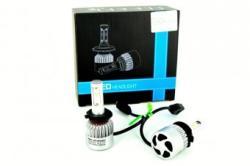 ALEMAR Set Bec HB4 9006 cu LED S2 chip led Korea 40W 4800 lumen 6000k 12-24V