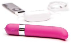 OhMiBod Луксозен розов вибратор за g-точка 16см