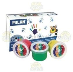 Milan Acuarele 6 Culori Pt. Pictura Cu Degetele - Milan (m5906)
