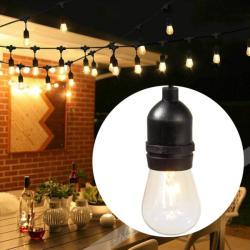 Timeless Tools Ghirlanda luminoasa decorativa impermeabila, cu 15 becuri LED soclu E27, 14, 6 m, alb cald (HOP1000933-1)