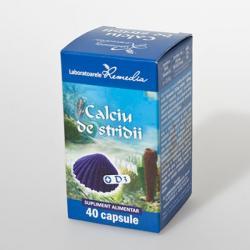 Remedia Calciu de stridii + D3 - 40 comprimate