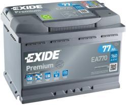Exide Premium 77Ah 760A Jobb+ (EA770)