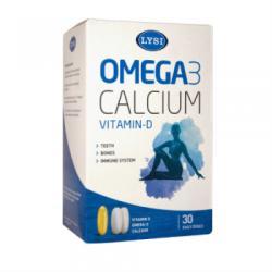 Lysi Omega 3 cu Vitamina D si Calciu - 30 comprimate