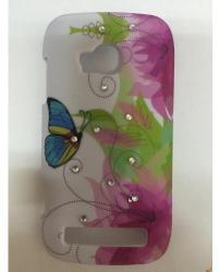 Nokia Твърд гръб за Nokia Lumia 710 с цветя и камъни