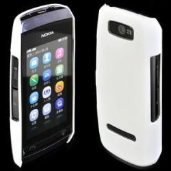 Nokia Твърд гръб за Nokia Asha 306 бял