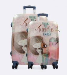 Anekke INDIA bőrönd szett