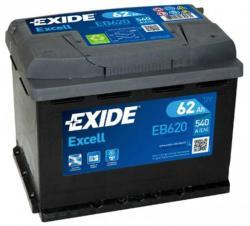 Exide Excell EB620 62Ah 540A jobb+ (EB620)