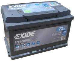 Exide Premium 72Ah 720A Jobb+ (EA722)