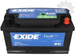 Exide Excell 80Ah 700A Jobb+ (EB802)